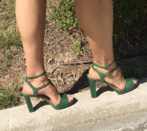T-strap, green, fashion, shopping, CA, TX, banana republic, blogger, Investment Piece