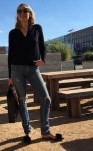 Fall look, fur Pom, jeans, Gucci, Zara, investment piece, fashion blogger, CA, TX