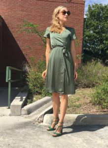 Green, fashion, blogger, Banana Republic, blogger, CA, TX, Investment Piece