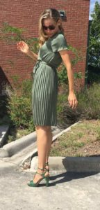 Green, dress, fashion, shopping, Banana Republic, blogger, CA, TX, Investment Piece
