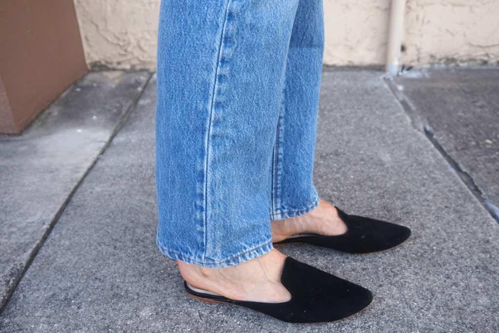 Investment Piece, Fashionblogger, CA, TX, kimono, Levi's, loafers