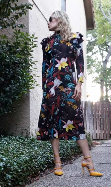 Investment Piece, fashion, floral, HM, Club Monaco, CA, TX, high fashion, blogger