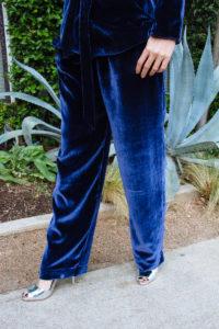 Investment Piece, fashion blogger, velvet suit, high fashion, CA. TX