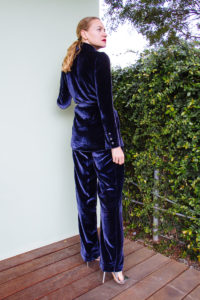 Investment Piece, fashion blogger, velvet suit, high fashion, CA, TX