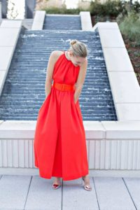 Investment Piece, fashion blogger, lady in red, vintage, gown, fashion blogger, CA, TX