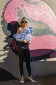 Investment Piece, shoulder Ruffles, stripes, high fashion, Stephen Spillman, ca, TX