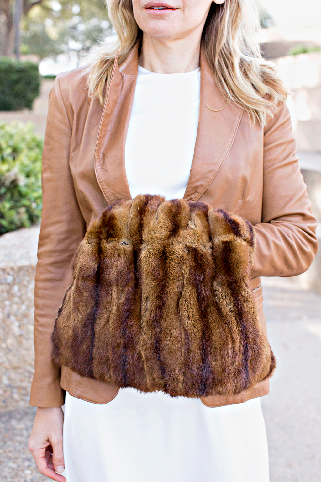 Investment Piece, fashion blogger, non wedding, mink, vintage, high fashion, Asos, Megan Weaver, CA, TX