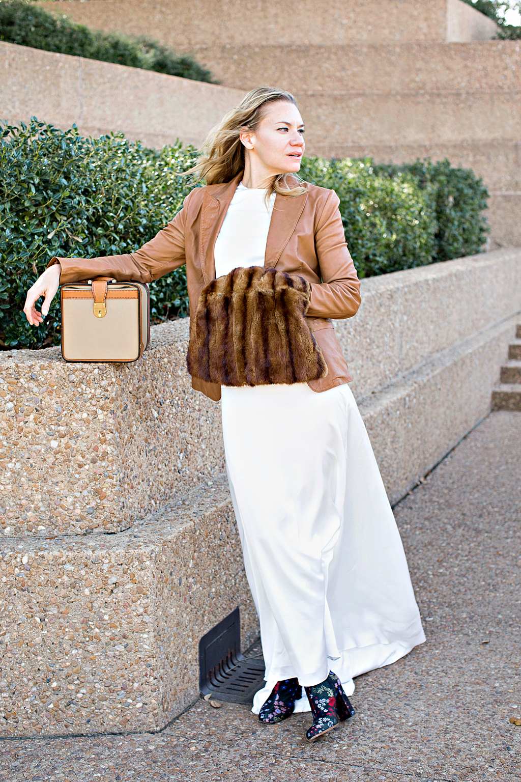 Investment Piece, non wedding, fashion blogger, Valentino, Gucci, train case, mink, Megan Weaver, CA, TX, high fashion