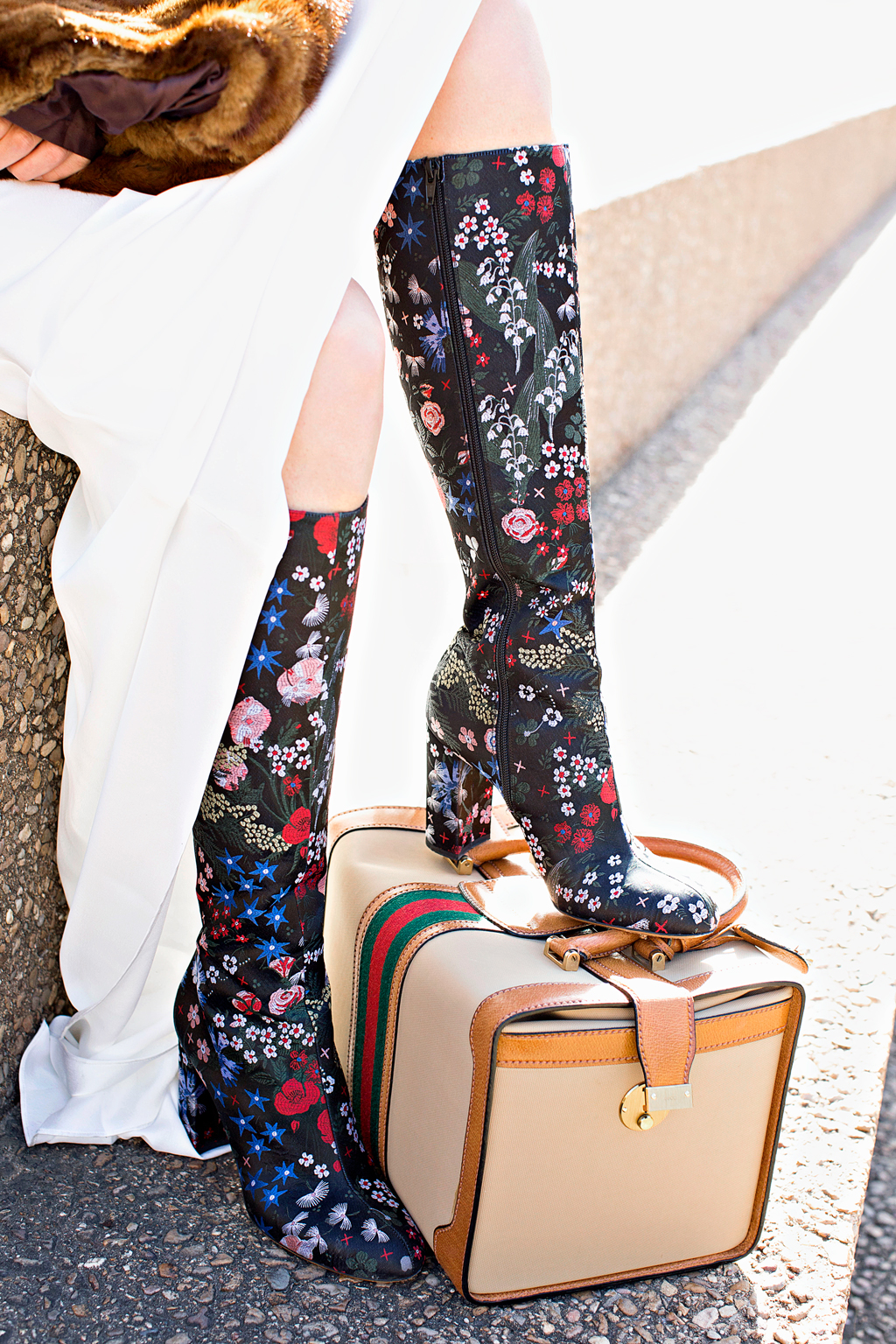 Investment Piece, non wedding, fashion blogger, Asos, Gucci, Valentino, floral boots, Megan Weaver, high fashion, CA, TX
