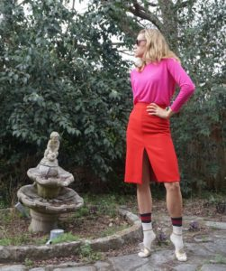 Investment Piece, fashion, blogger, red//pink,Jcrew, Zara, Gucci, color blocked, Ca, TX