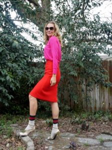 Investment Piece, fashion, blogger, red//pink, color block, Jcrew, Zara, Gucci, CA, TX