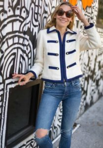 investment Piece, fashion, blogger, vintage jacket, mother jeans, CA, TX