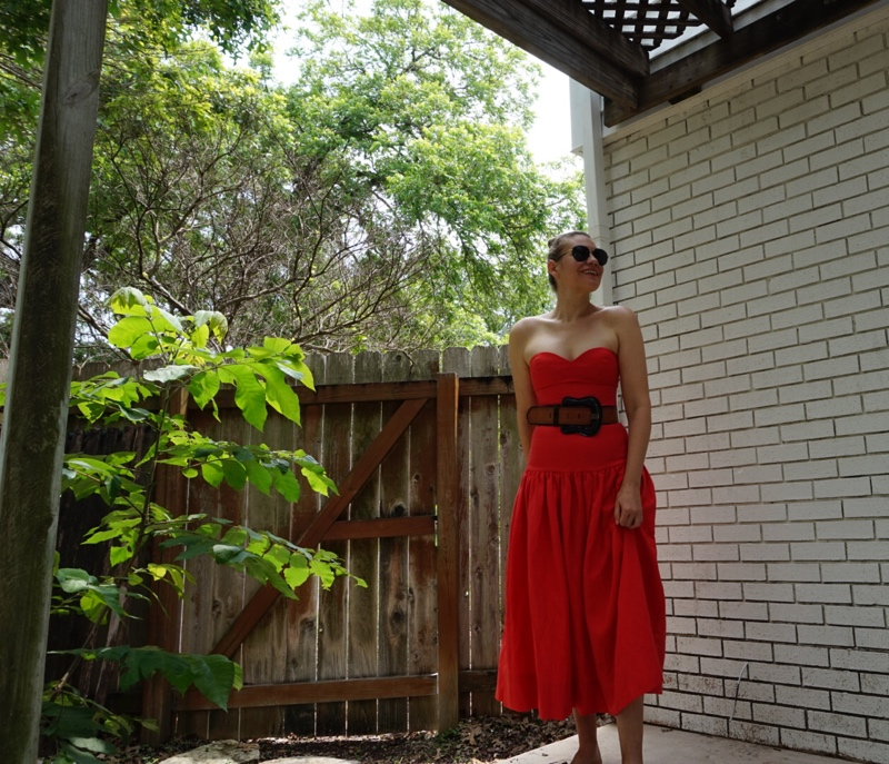 Investment Piece: Strapless Dress